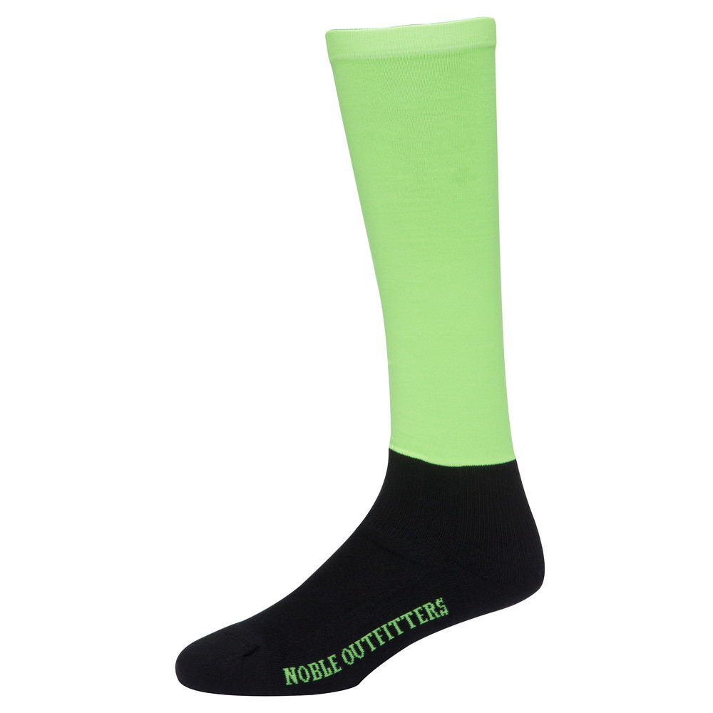 Solid Over The Calf Peddies Neon Green