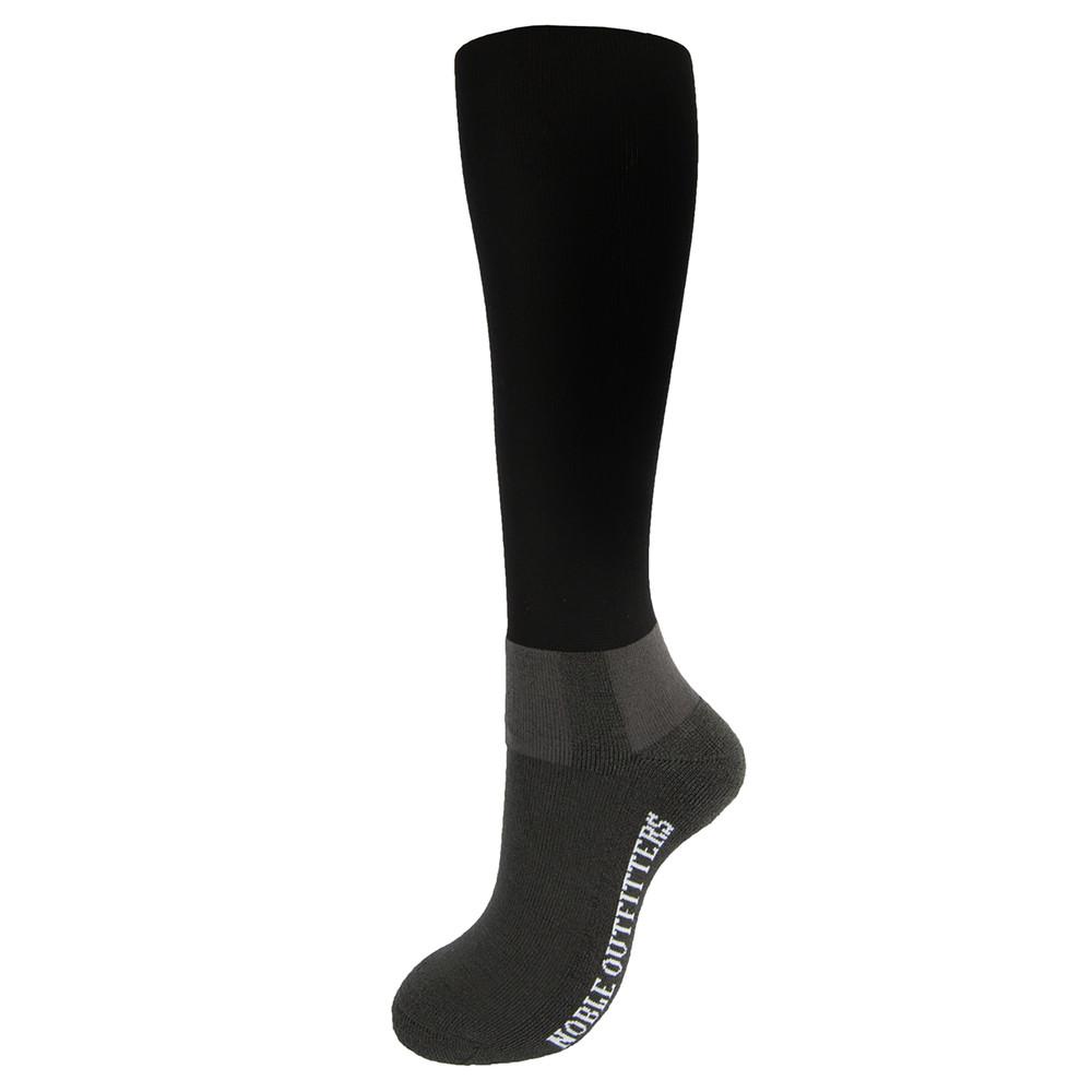 Merino Wool Solid Peddies Black