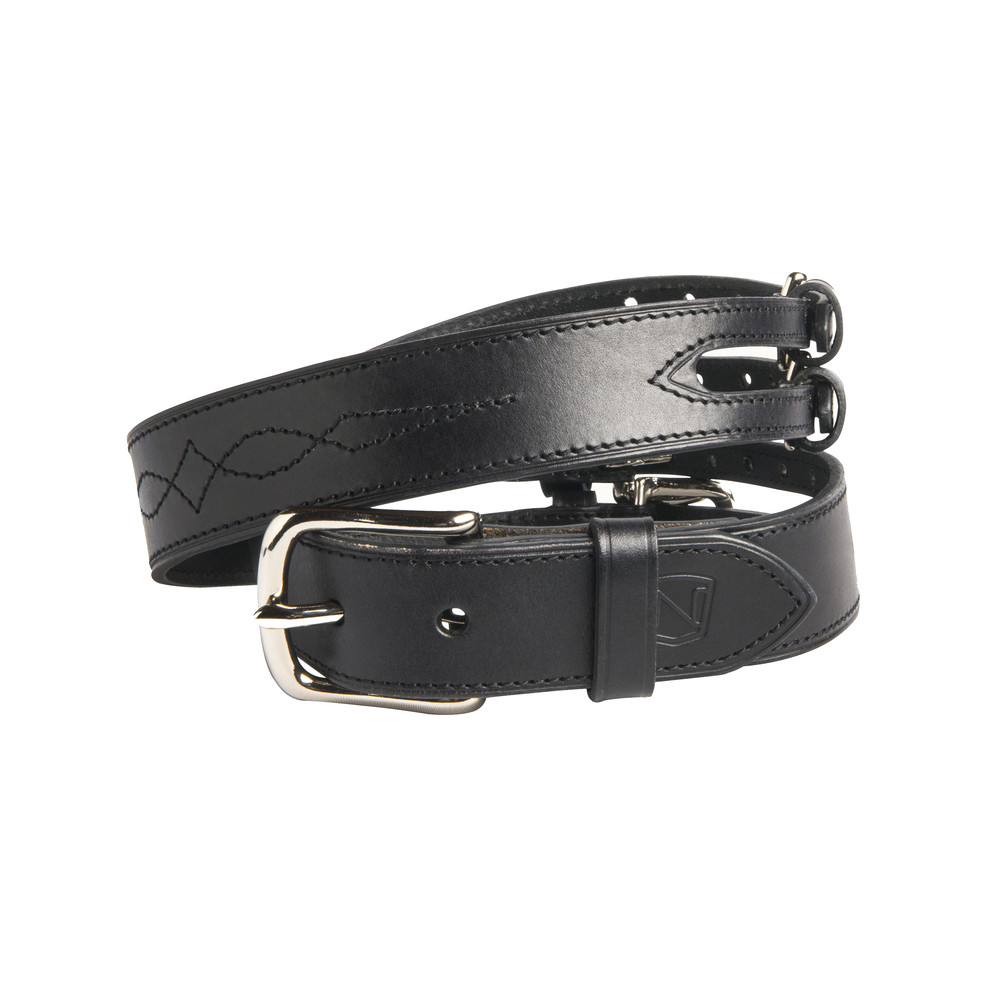Double Buckle Belt Black