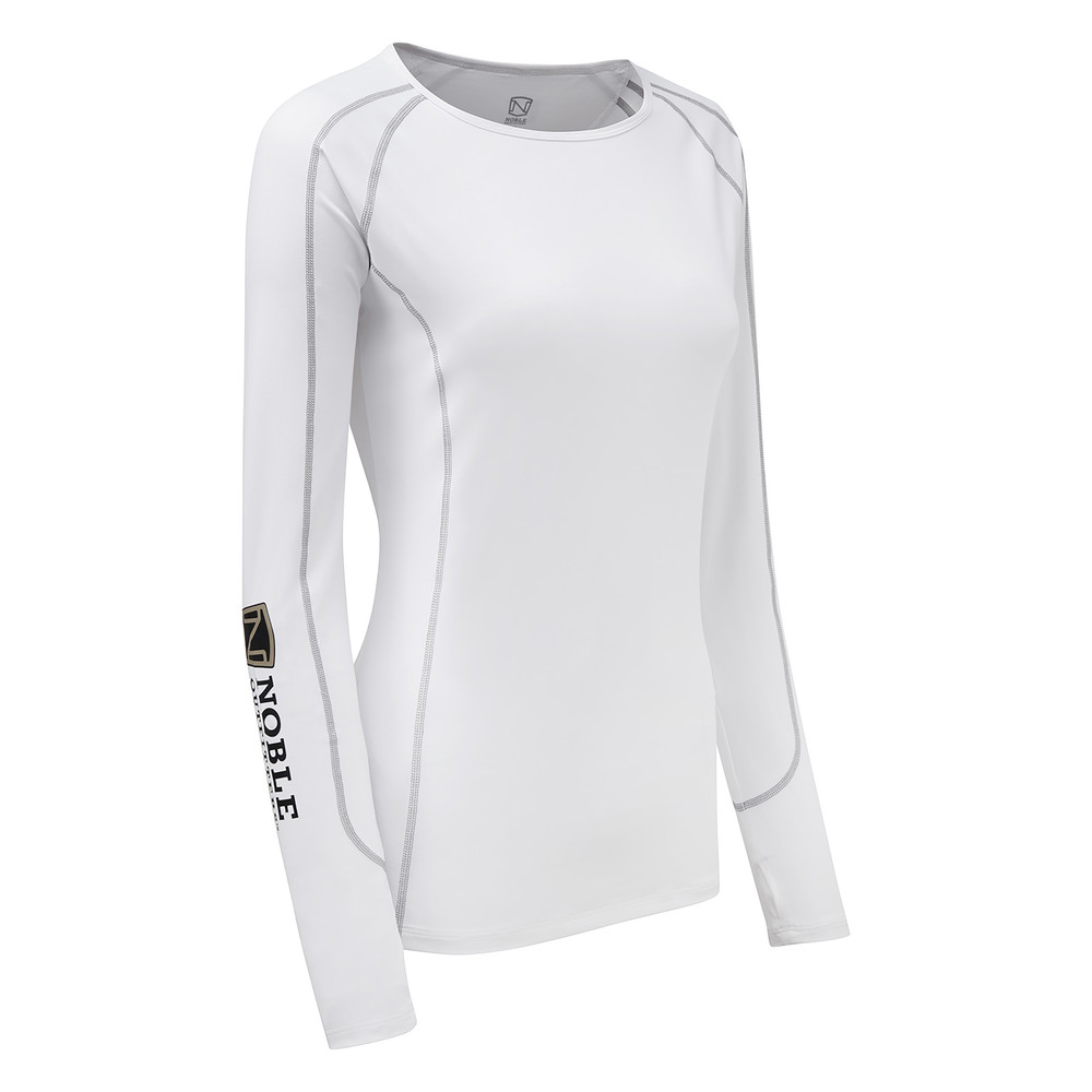 Team Hailey Long Sleeve Crew White