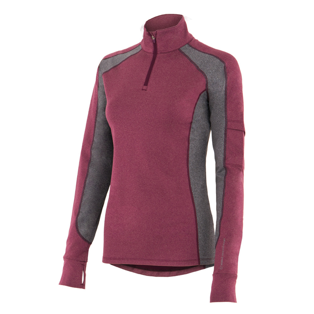 Lauren 1/4 Zip Violet/Coral/Heather