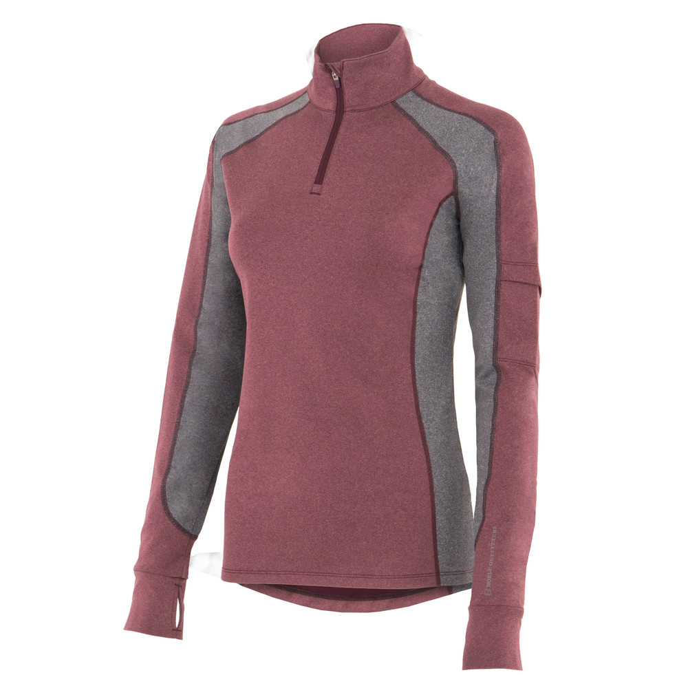 Lauren 1/4 Zip Wine Heather