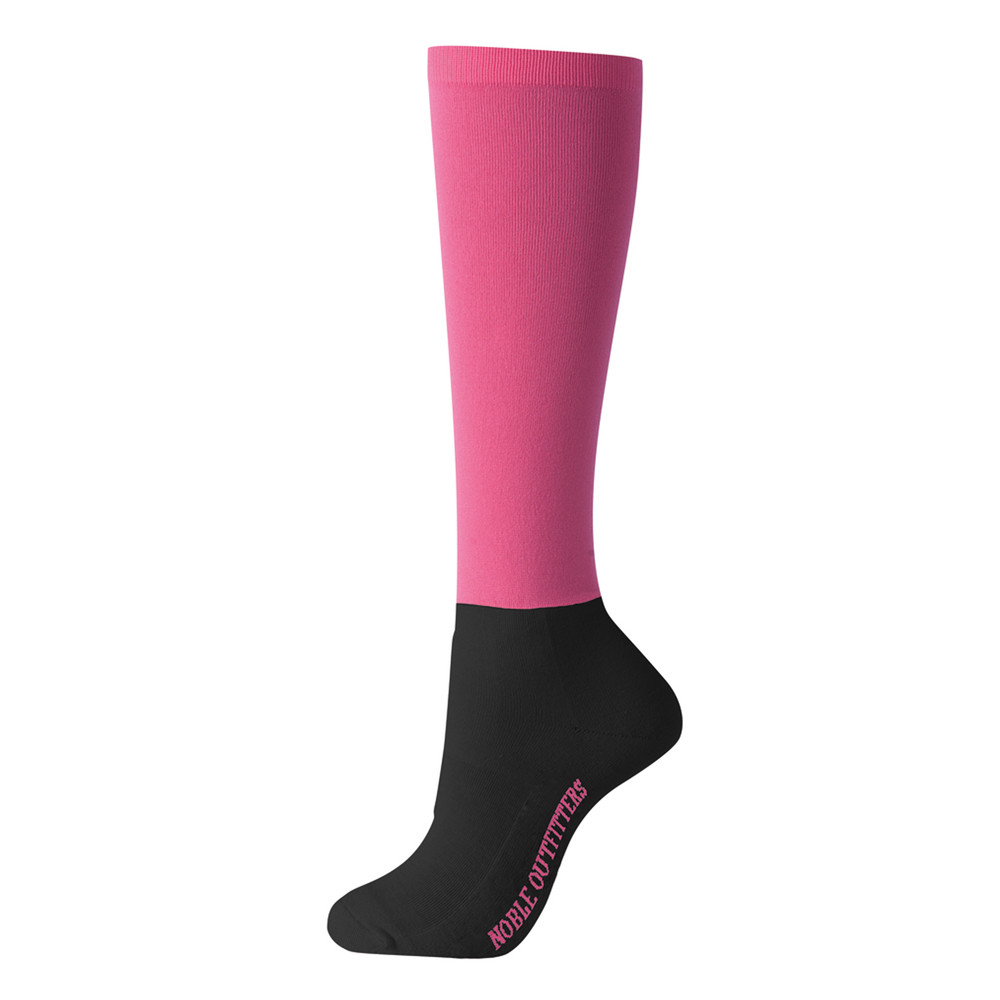 Solid Over The Calf Peddies Neon Pink