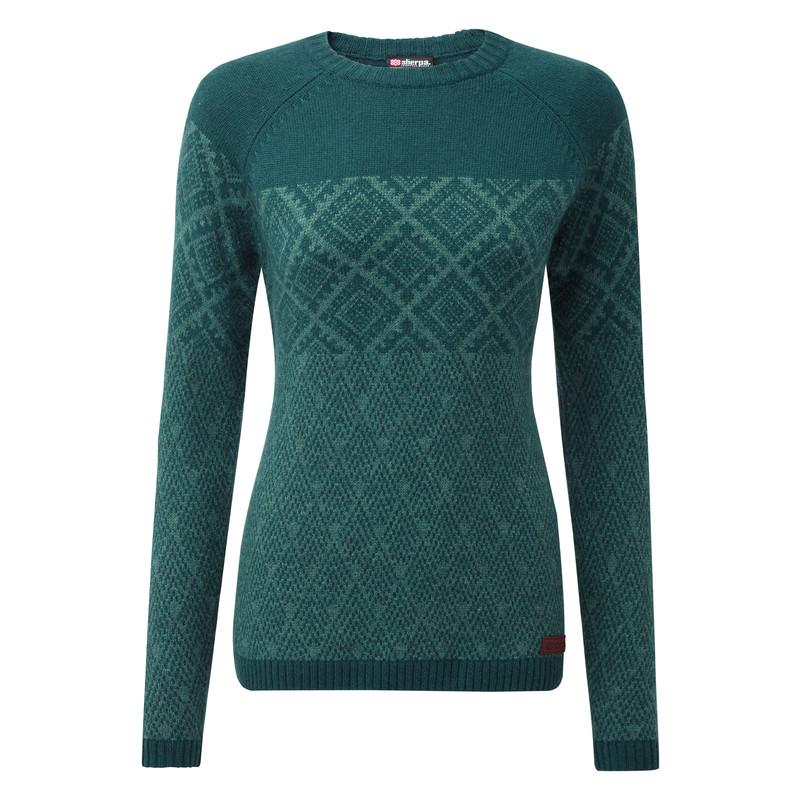 Amdo Crew Sweater - Rathna Green