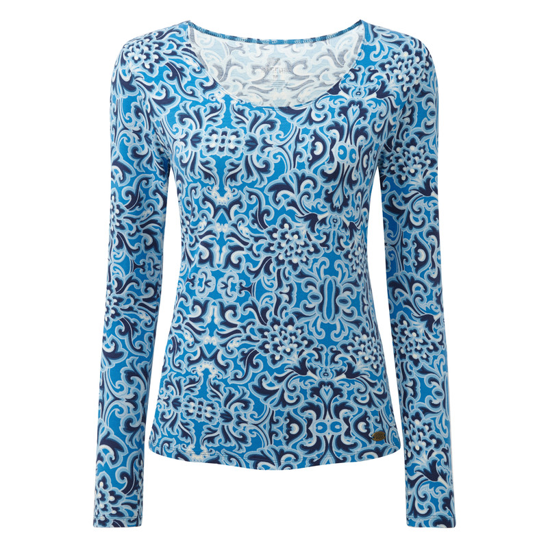 Mala Long Sleeve Top - Blue Tara