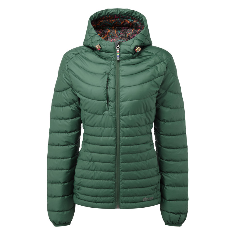 Nangpala Hooded Down Jacket - Rathna Green