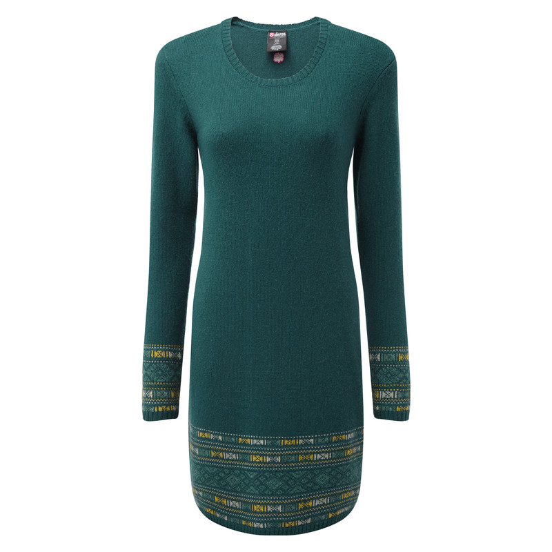 Maya Jacquard Dress - Rathna Green
