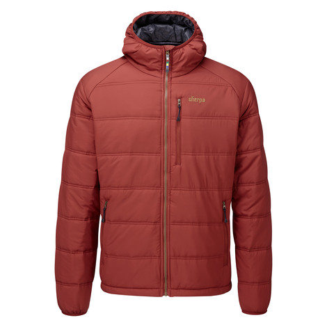 Sherpa Adventure Gear Kailash Hooded Jacket in Potala Red