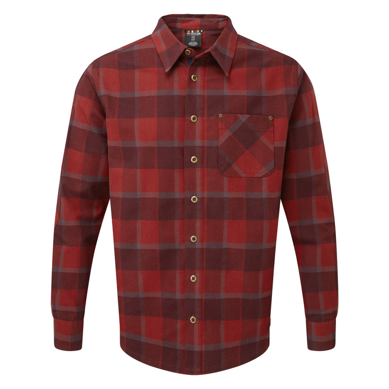 Sardar Long Sleeve Shirt - Potala Red