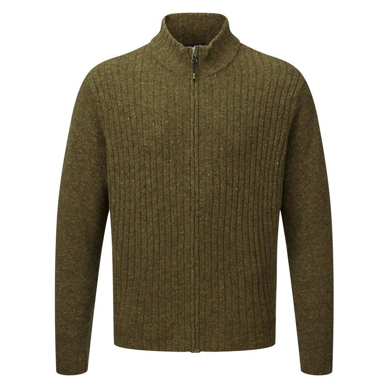 Kangtega Full Zip Sweater - Mewa Green