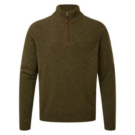 Kangtega Quarter Zip Sweater Mewa Green