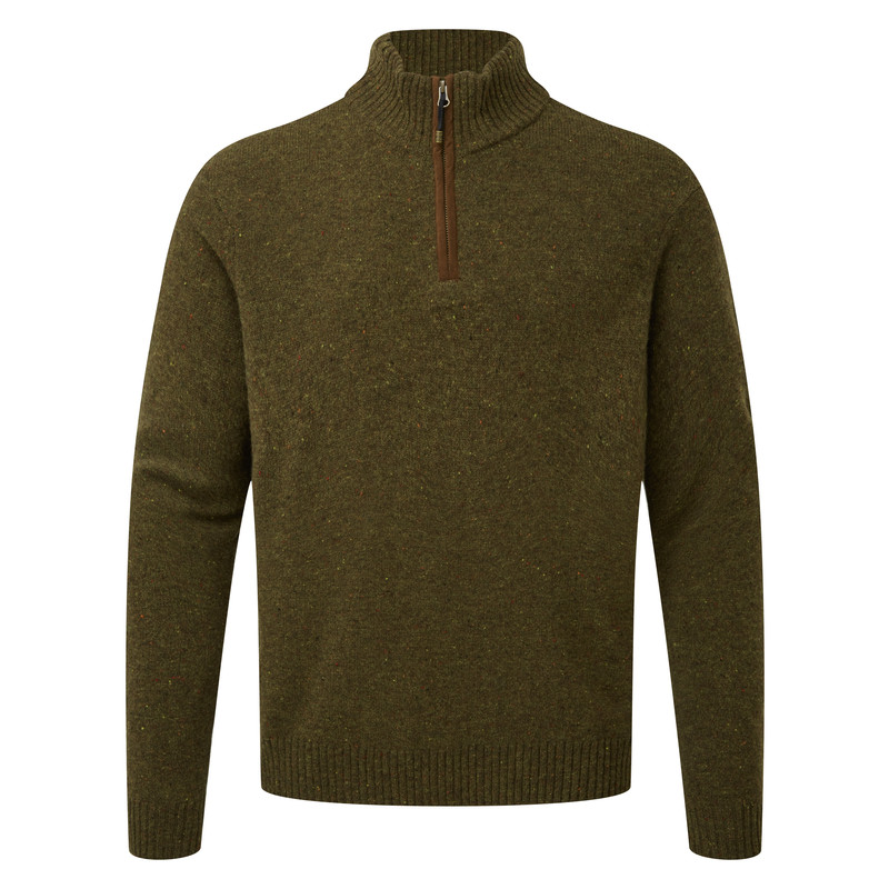 Kangtega Quarter Zip Sweater - Mewa Green