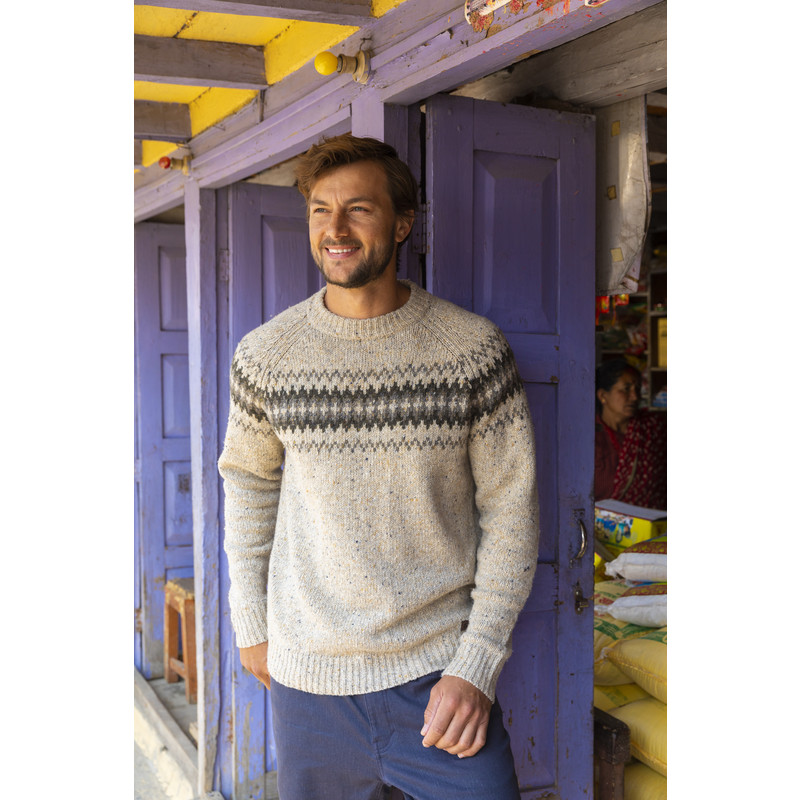 Dumji Crew Sweater - Chai Tea