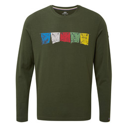Sherpa Adventure Gear Tarcho Long Sleeve Tee in Mewa Green