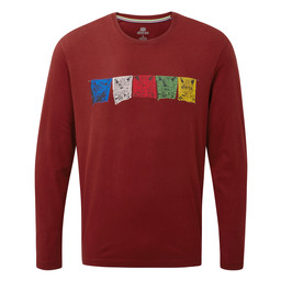 Sherpa Adventure Gear Tarcho Long Sleeve Tee in Potala Red