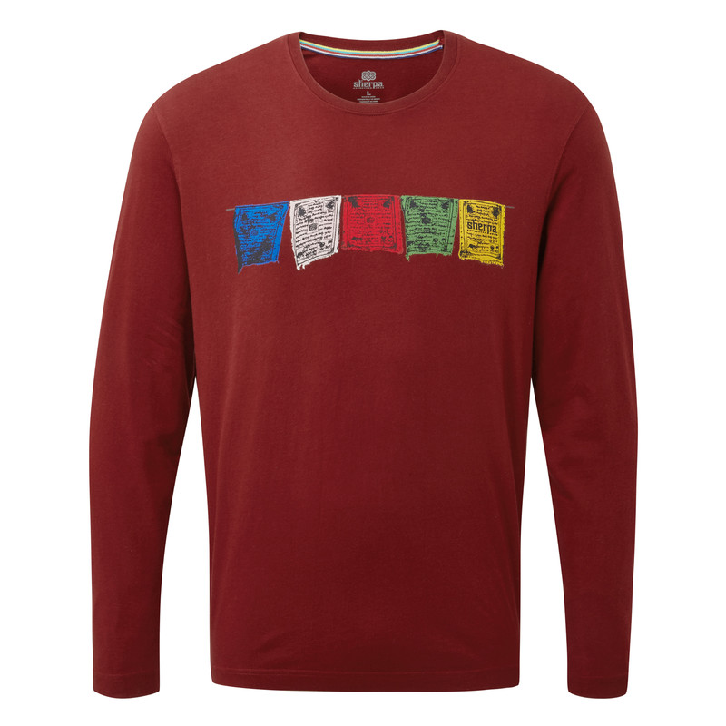 Tarcho Long Sleeve Tee - Potala Red