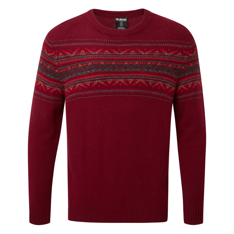 Nathula Crew Sweater - Potala Red