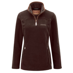 Schoffel Country Tilton 1/4 Zip Fleece in Mocha