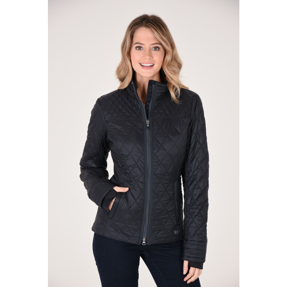 Warmup Quilted Coat Black