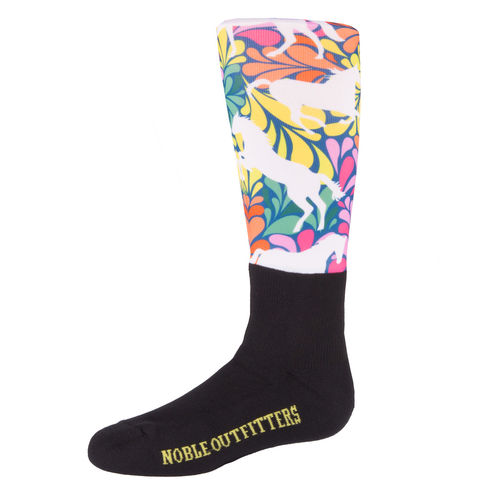 Girls Over The Calf Peddies Flower Power Horse