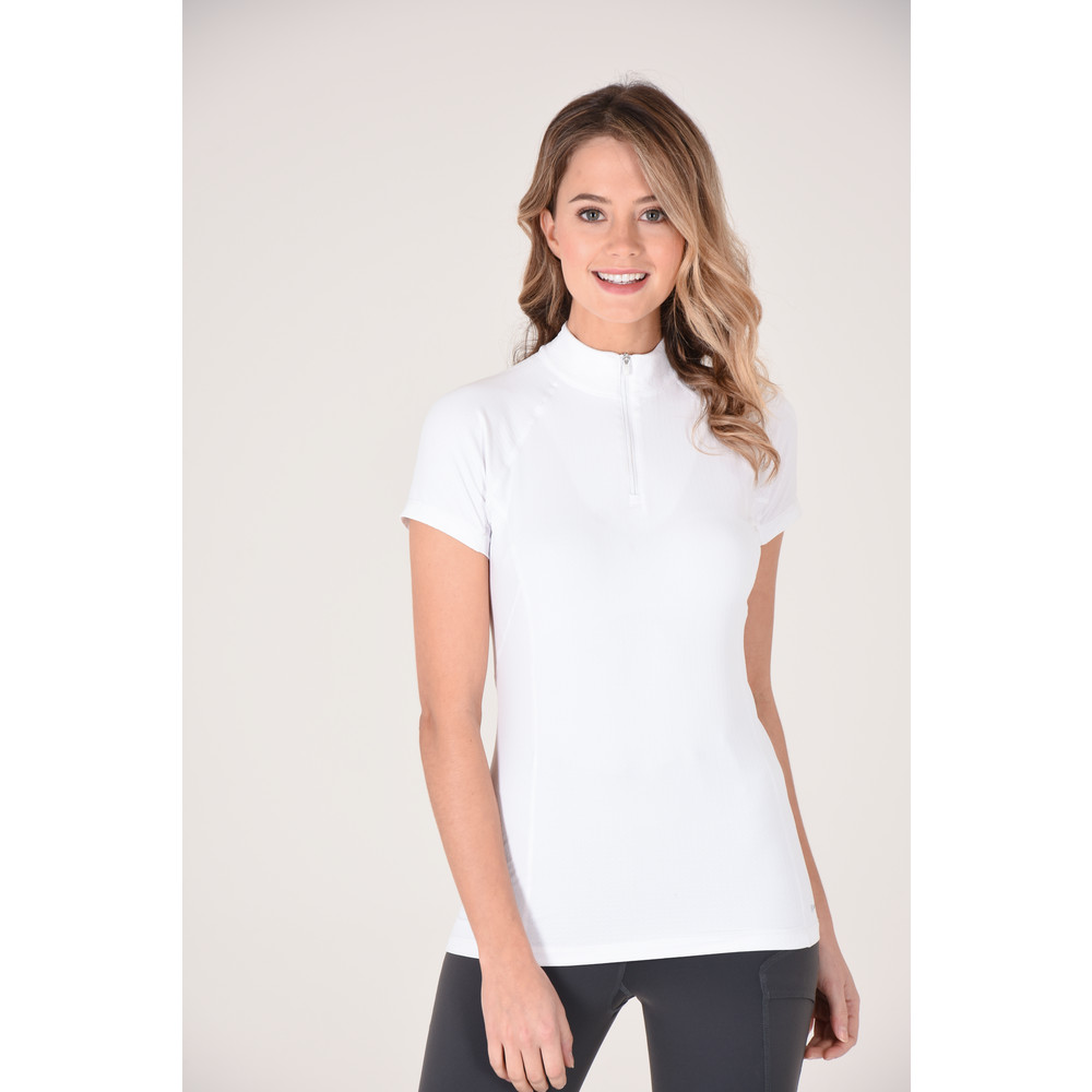 Gwen Short Sleeve Performance White