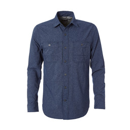 Royal Robbins Long Distance Traveler L/S Shirt in Deep Blue