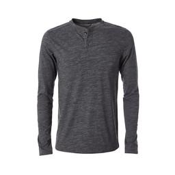 Royal Robbins Merinolux Henley Long Sleeve Top in Charcoal