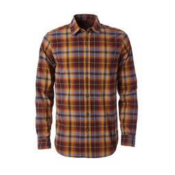 Royal Robbins Trouvaille Plaid L/S Shirt in Dk Pepper