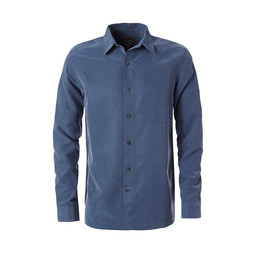 Royal Robbins Desert Pucker Dry L/S Shirt in Collins Blue