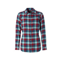 Royal Robbins Lieback Flannel L/S Shirt in Rumba Red Multi