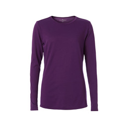 Royal Robbins Merinolux Crew Long Sleeve Top in Grape Royale