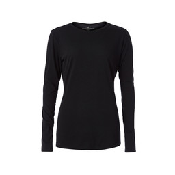 Royal Robbins Merinolux Crew Long Sleeve Top in Jet Black
