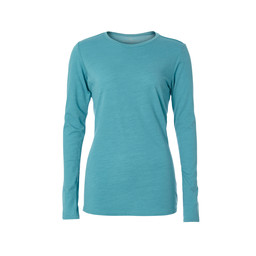 Royal Robbins Merinolux Crew Long Sleeve Top in Porcelain Multi