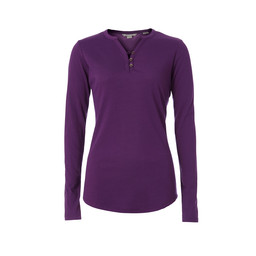 Royal Robbins Merinolux Henley Long Sleeve Top in Grape Royale