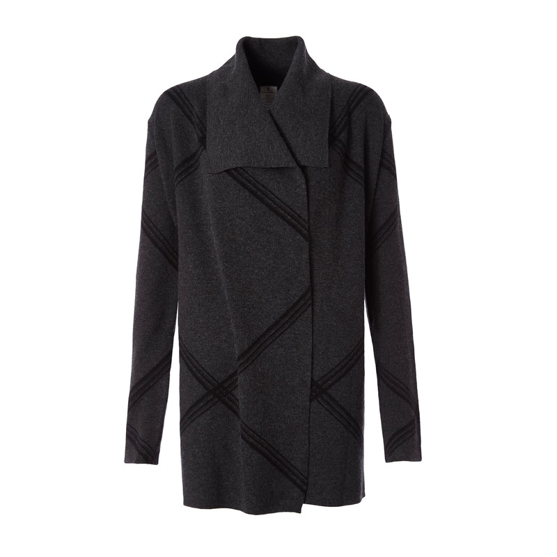 All Season Merino Cardigan - Charcoal