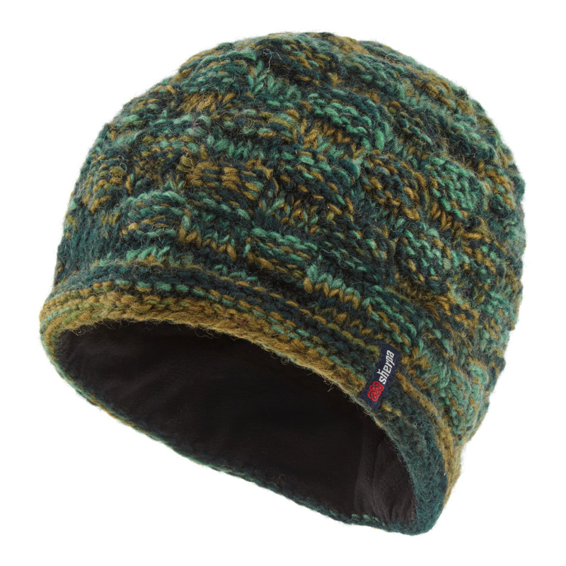 Basket Weave Rimjhim Hat - Rathna Green