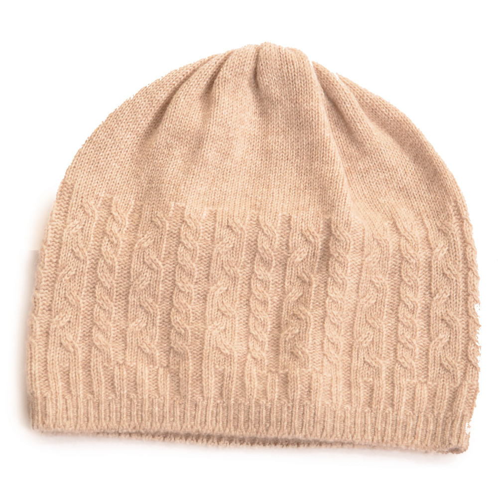 Cashmere Cable Hat Barley