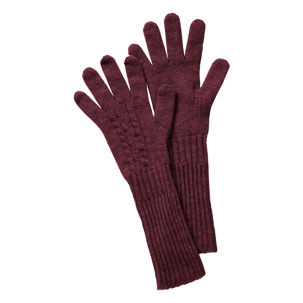 Cable Gloves Ruby