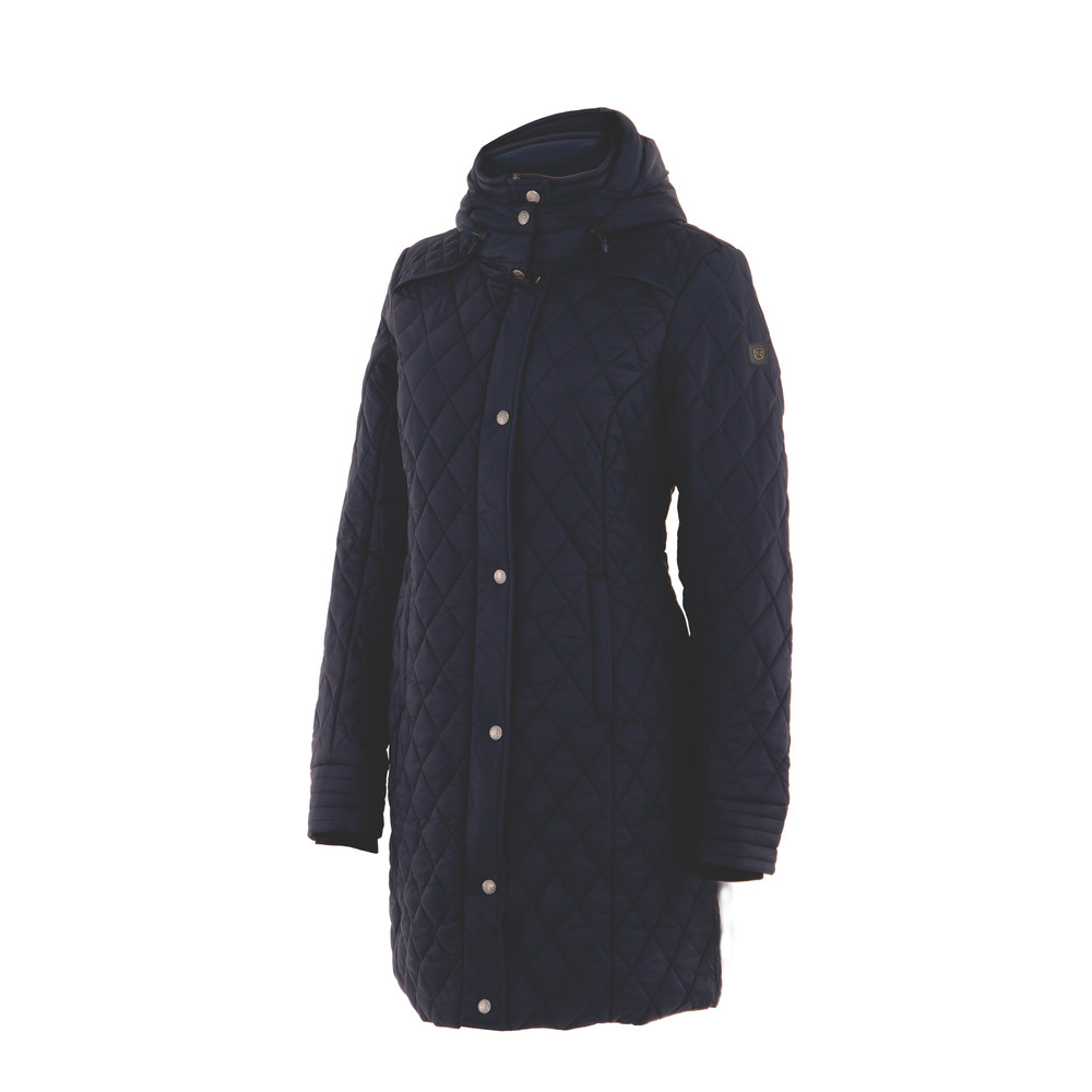 Warmup Quilted Coat Dark Navy