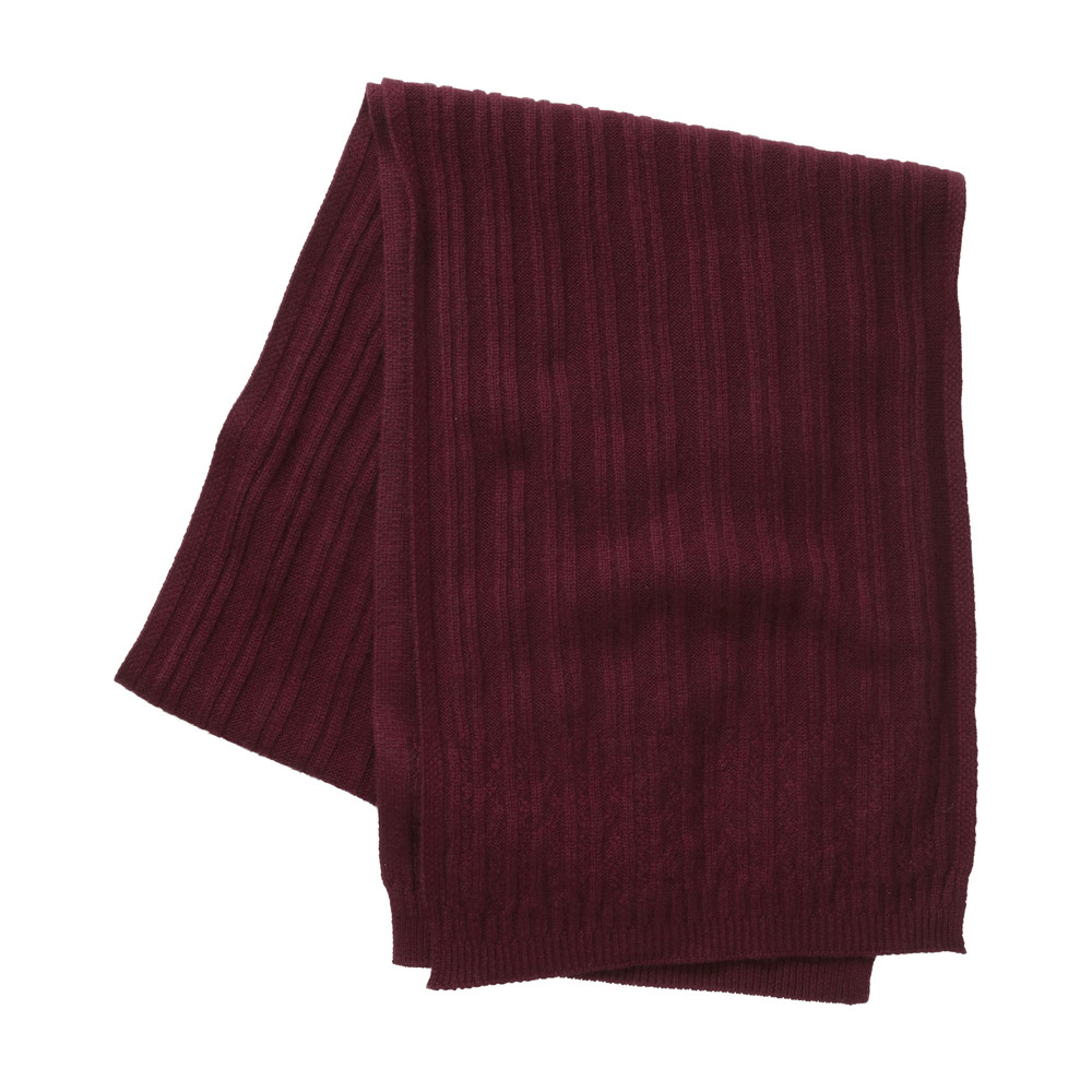 Cashmere Cable Scarf Ruby