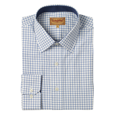Schoffel Country Cambridge Classic Shirt in Navy
