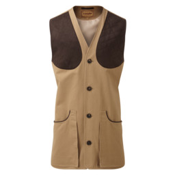 Schoffel Country All Seasons Shooting Vest in Camel
