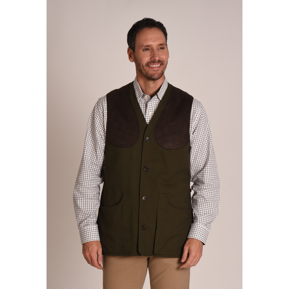 All Season Shooting Vest Dark Olive