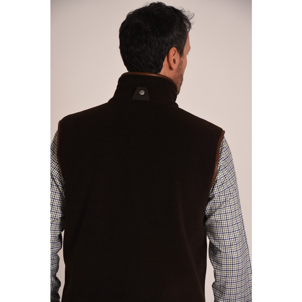 Oakham Fleece Gilet Mocha