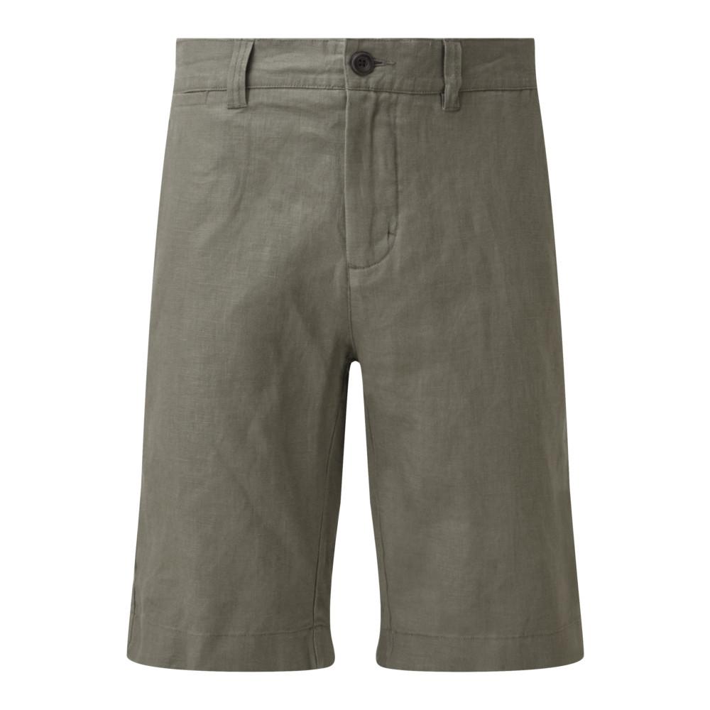 Linen Short Khaki