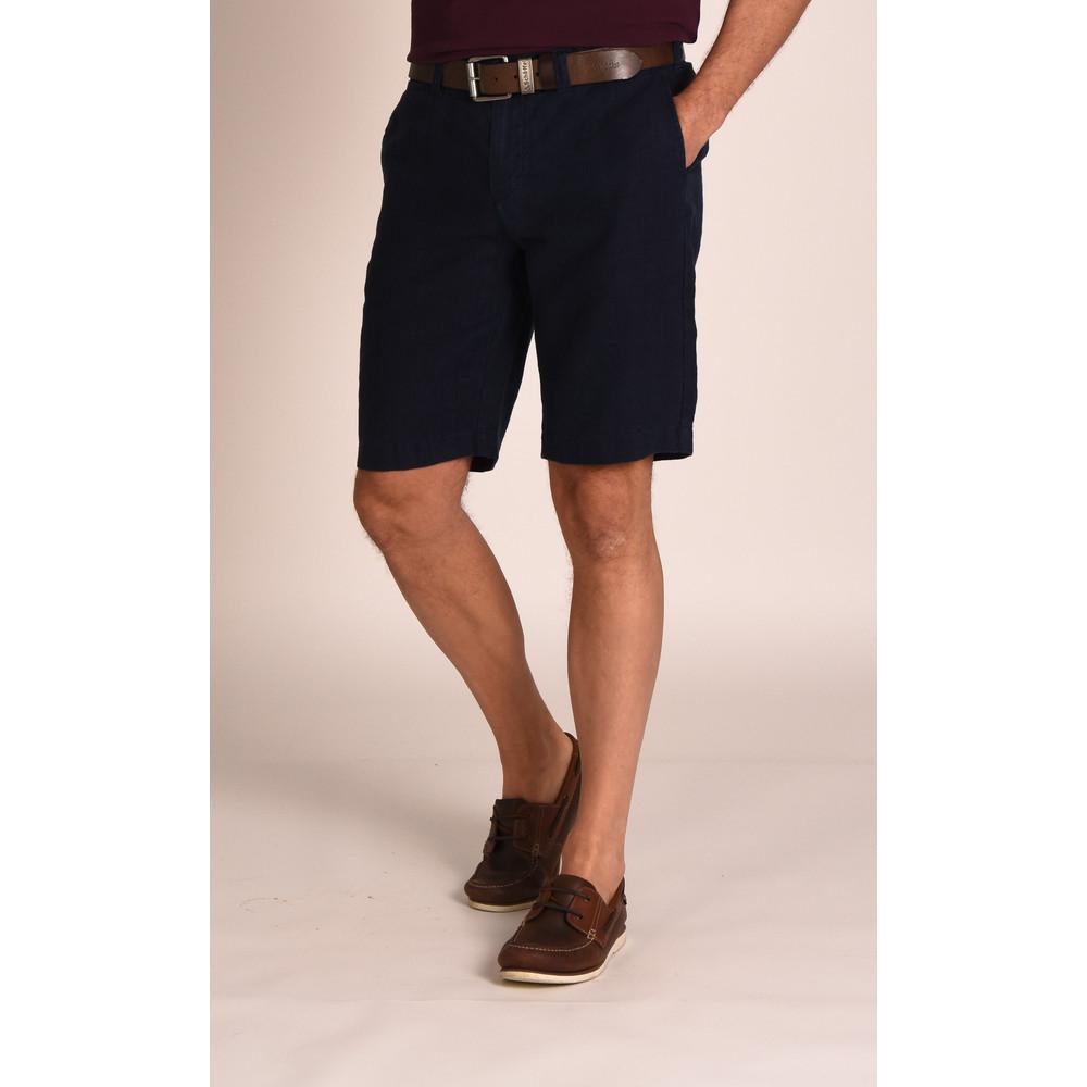 Linen Short Navy