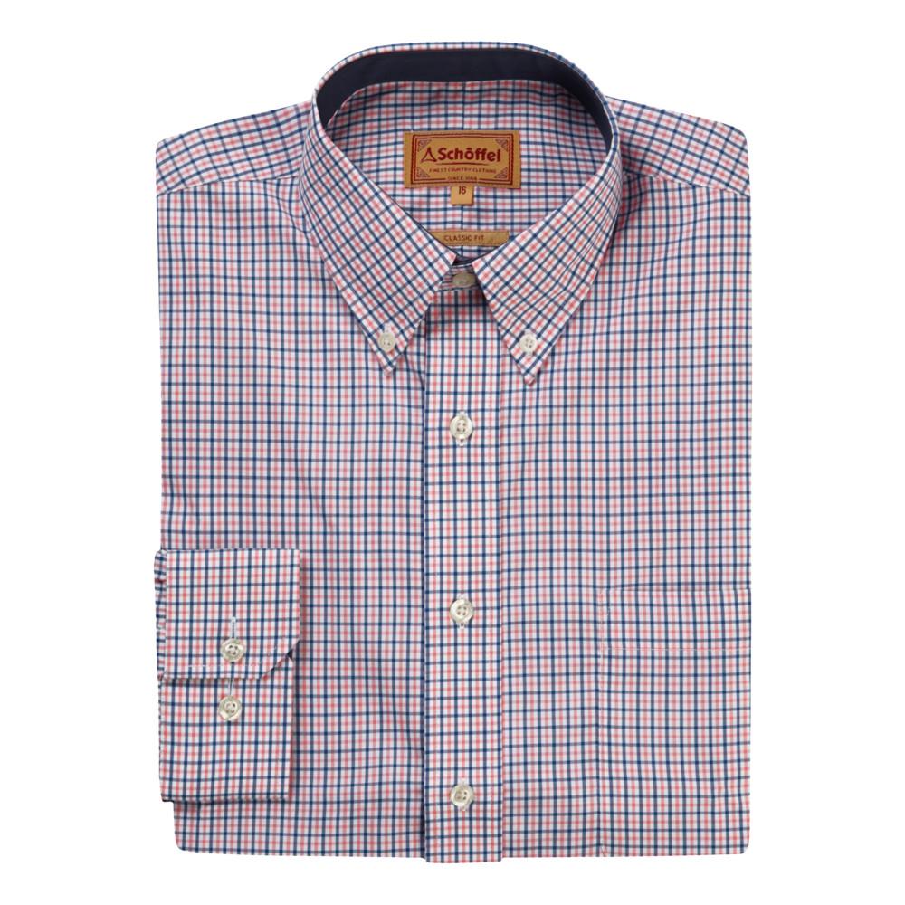 Morston Shirt Navy/Pink Micro