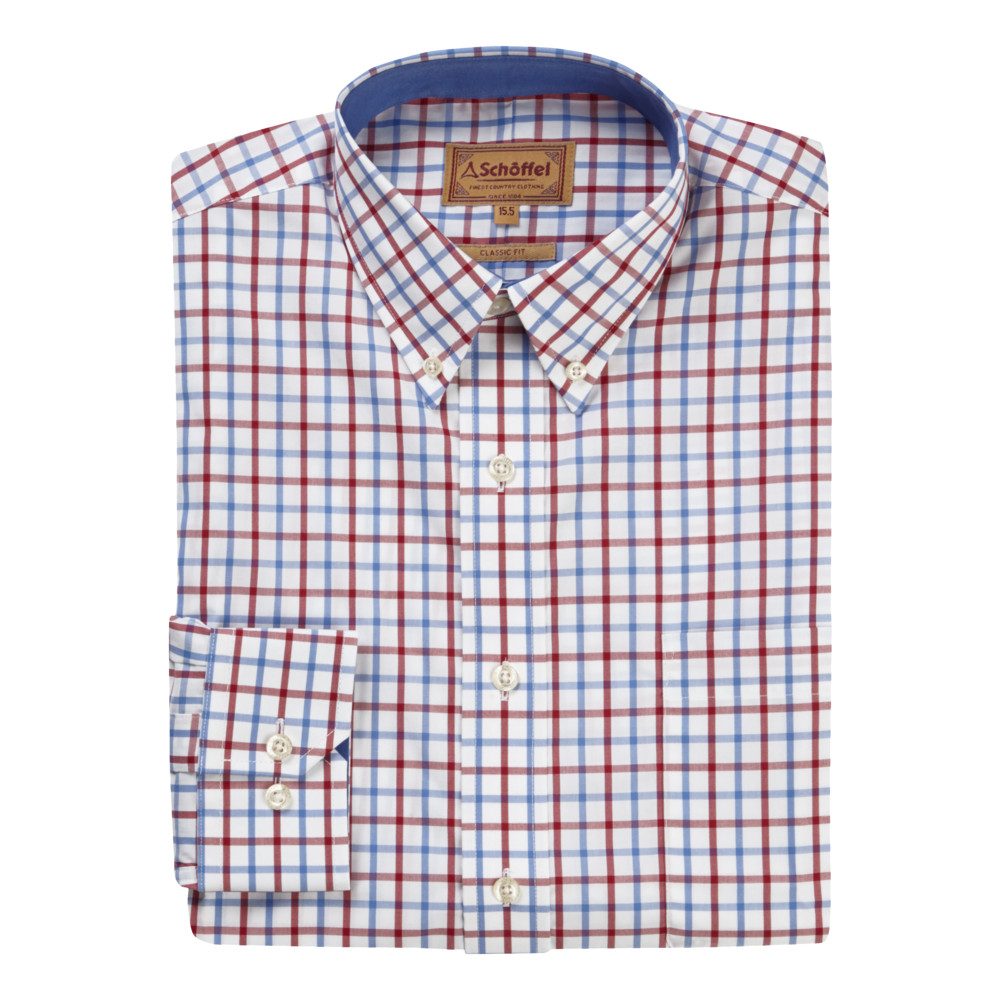 Holkham Shirt Red/Blue