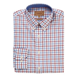 Schoffel Country Holkham Shirt in Red/Blue