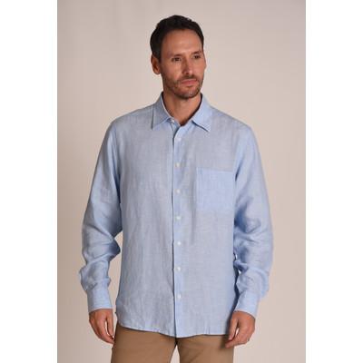 Thornham Classic Shirt Linen Lt Blue